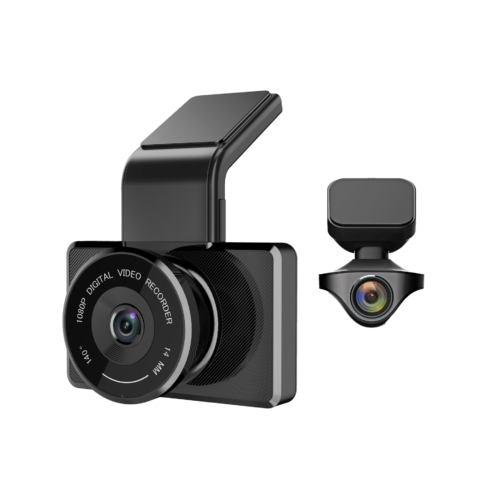 myGEKOgear Rear Full HD Dash Cam Driving Recorder Wide Angle Driver Assist Features 16GB Micro SD Card Included Wi-Fi Enabled GPS Logging Orbit 950 1080P Front Car DVR Motion Detection